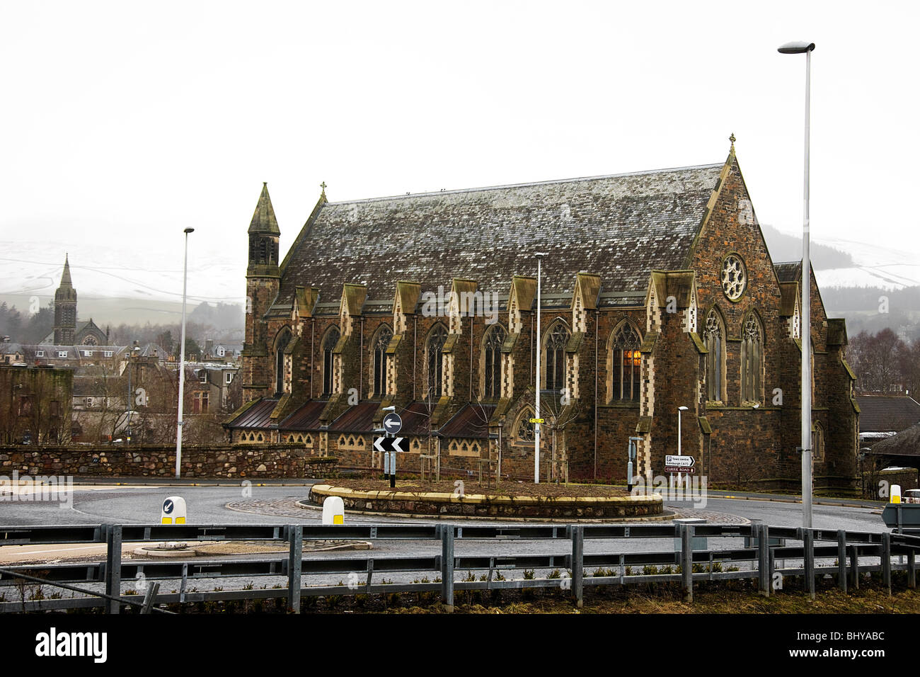 The RC church of Our lady St Andrews. Galashiels - Stock Image