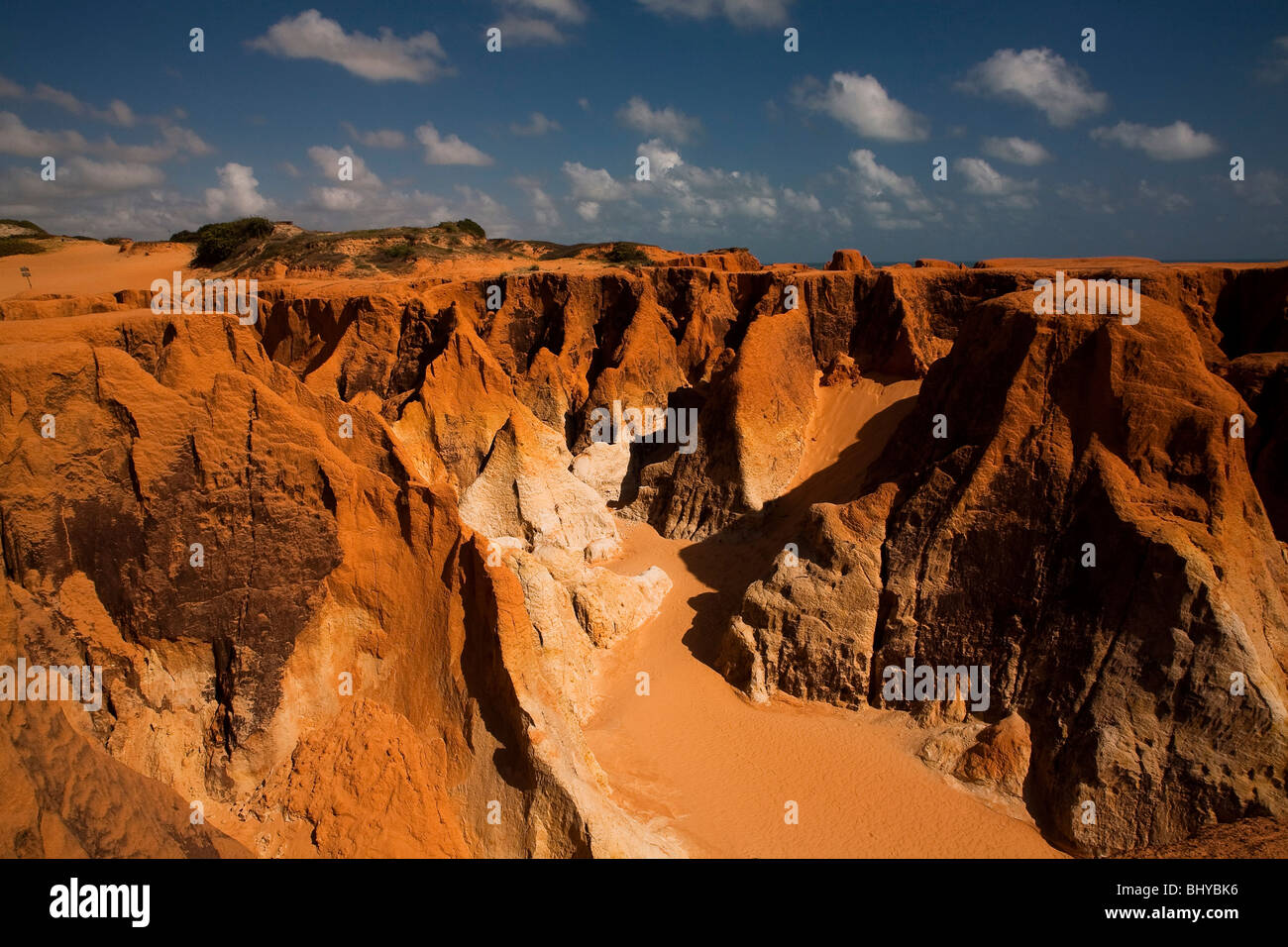 Morro Branco beach cliffs and labyrinths, Ceara State, Northeast Brazil. Stock Photo