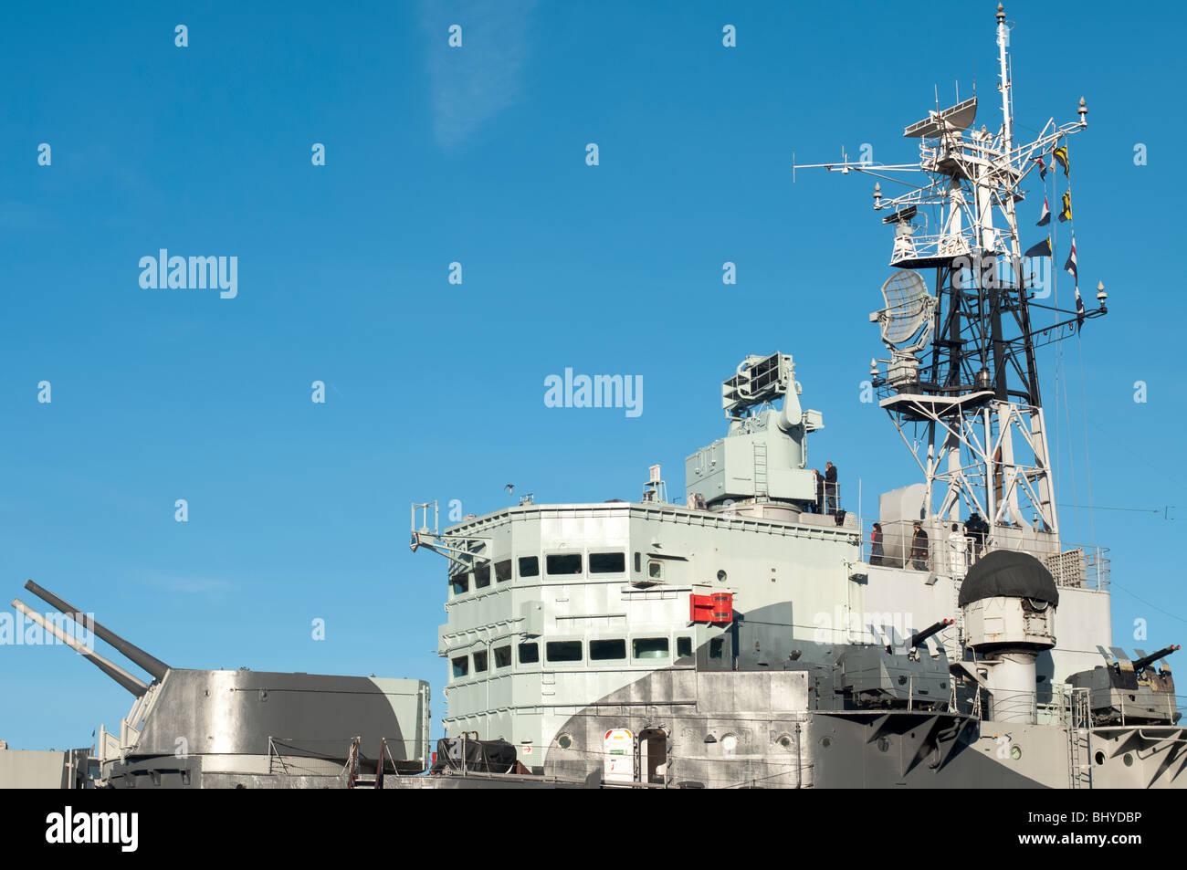 Bridge Detail HMS Belfast - Stock Image