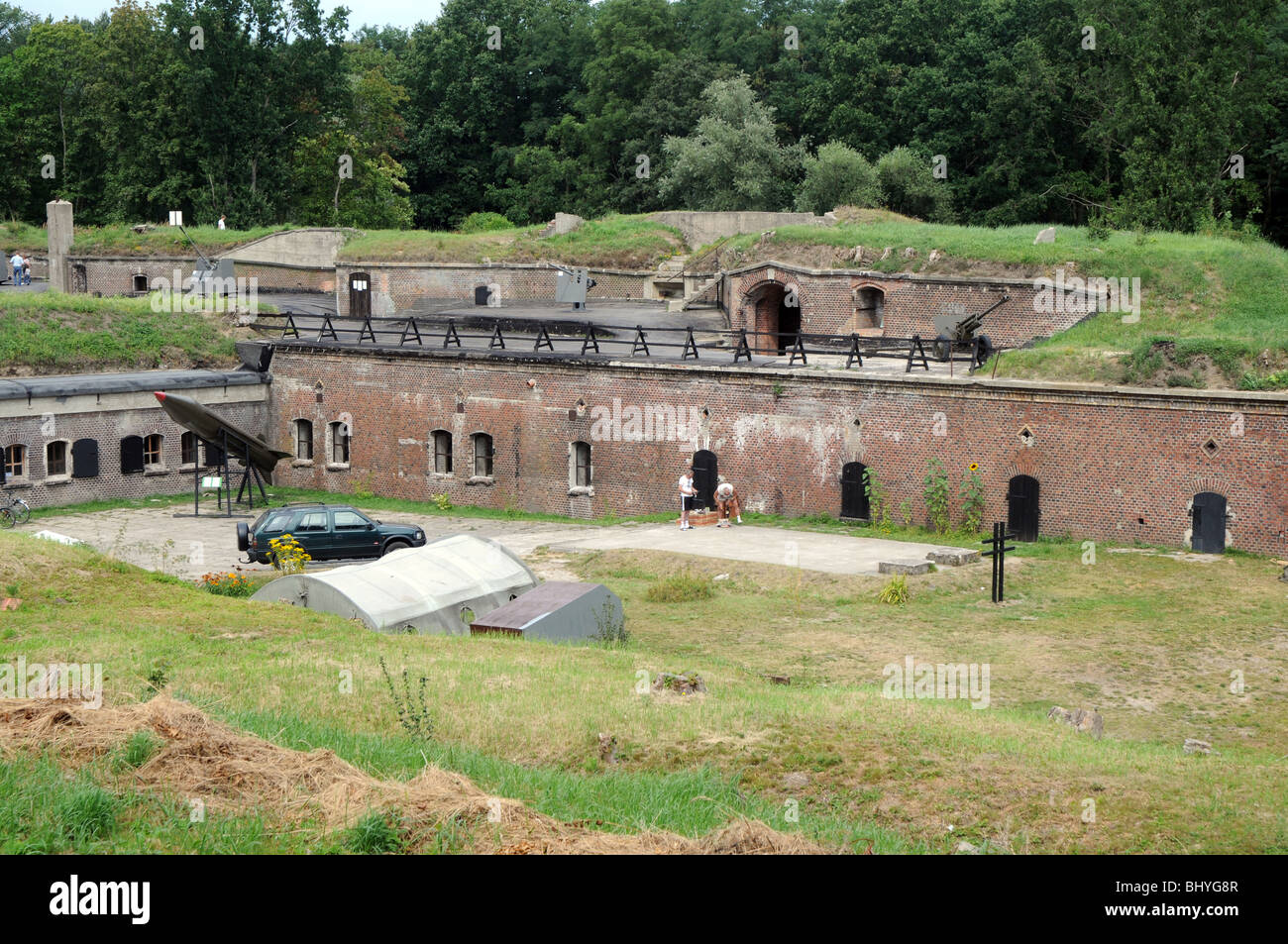 The Western Fort on Uznam Island, part of Swinoujscie Fortress, Poland Stock Photo