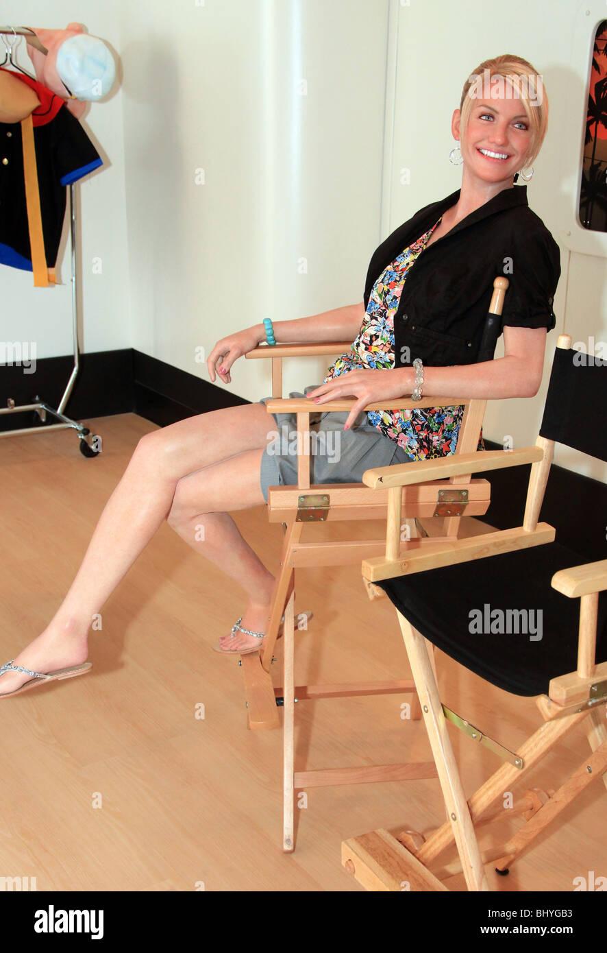 CAMERON DIAZ (WAXWORK) MADAM TUSSAUDS HOLLYWOOD OPENING HOLLYWOOD LOS ANGELES CA USA 21 July 2009 - Stock Image