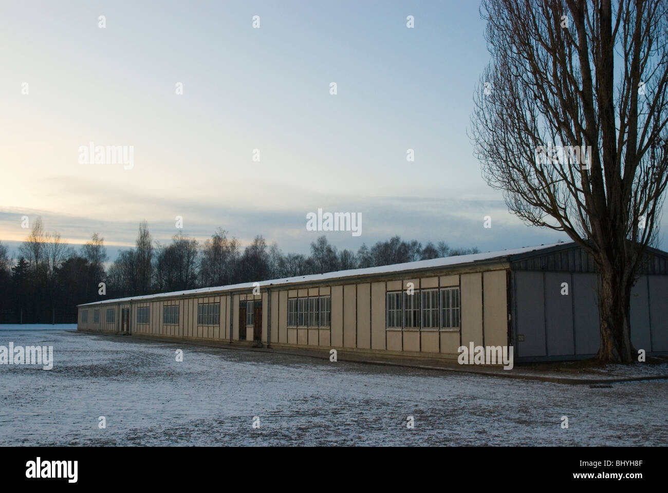 Barrack A at Dachau Concentration Camp Munich Bavaria Germany Europe - Stock Image