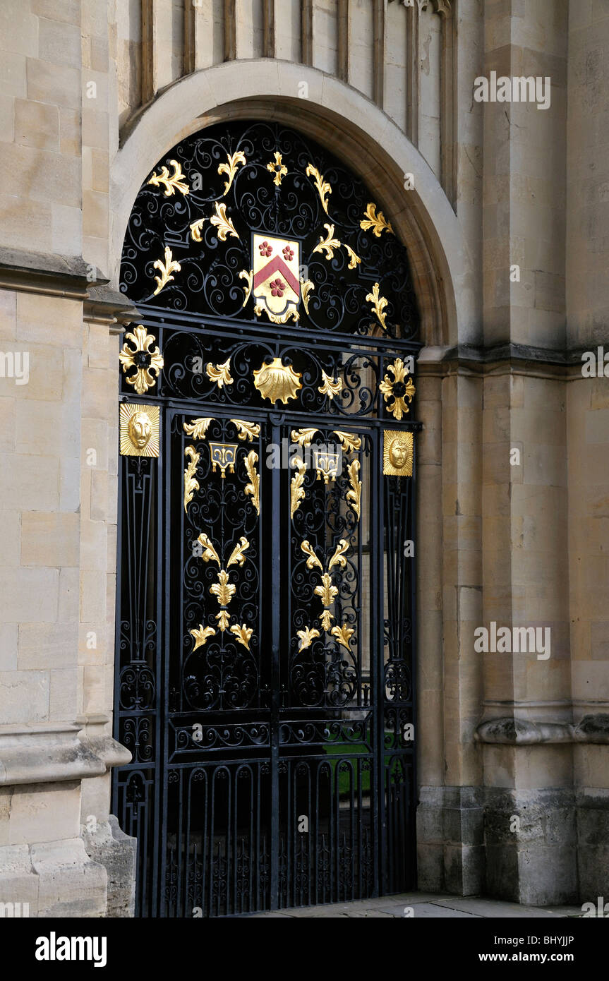 Gate to the University Church of St Mary the Virgin, Oxford Univeristy, Oxford, England. - Stock Image