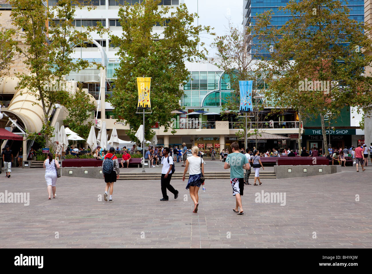 Forrest Place, Perth, Western Australia - Stock Image
