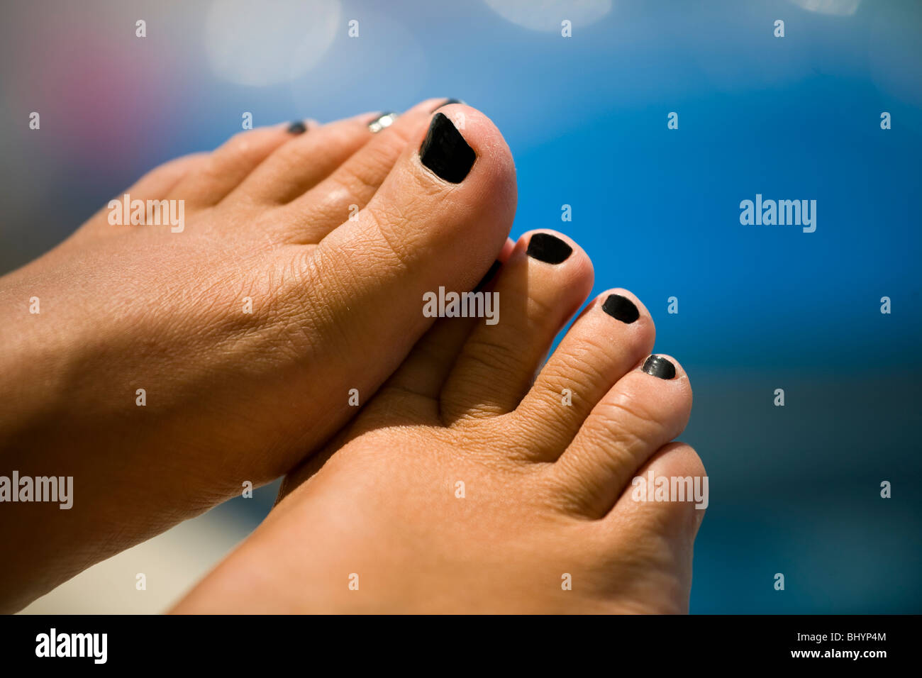 Painted Toe Nails Stock Photos & Painted Toe Nails Stock Images ...