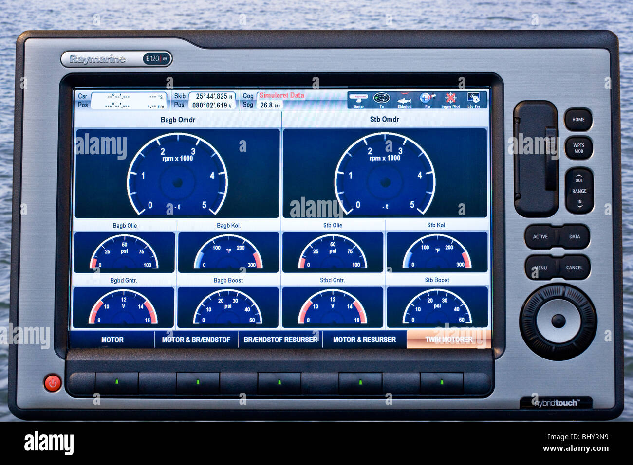 Multifunction navigation Widescreen - Stock Image