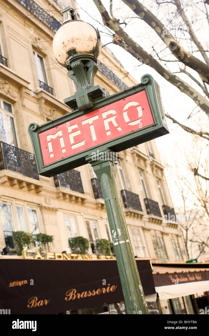 Metro Sign, Paris - Stock Image