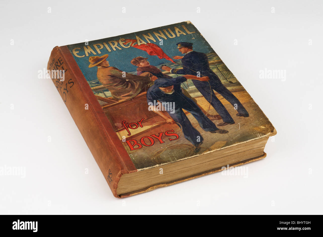 Old Book Empire Annual for Boys 1925 - Stock Image