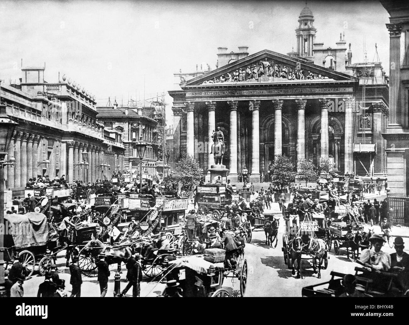 The Royal Exchange, City of London, c1900. - Stock Image