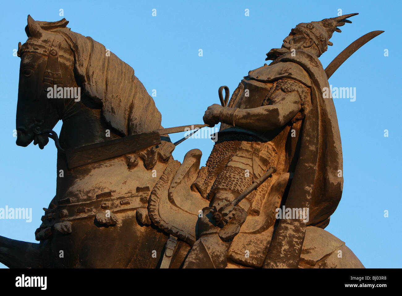 Statue of Skanderbeg, Tirana, Albania, Europe Stock Photo