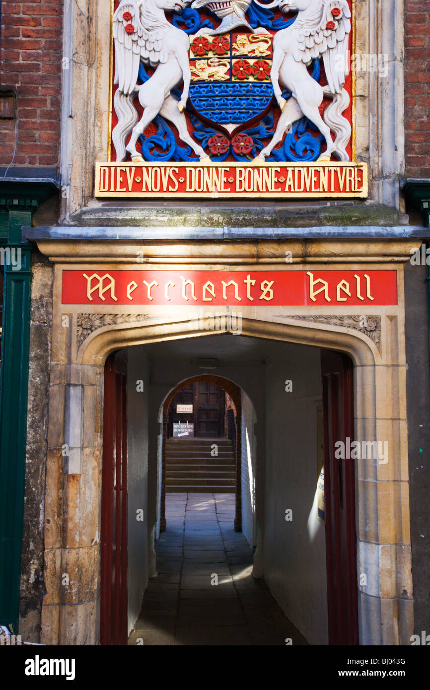 The Merchant Adventurers Hall Fossgate York Yorkshire England - Stock Image