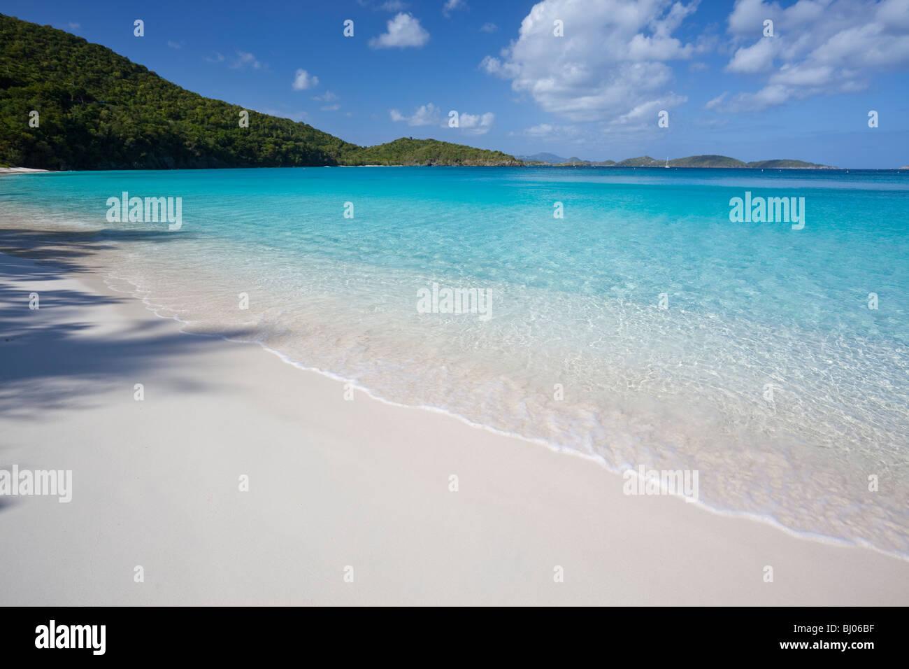Tropical beach in US Virgin Islands - Stock Image
