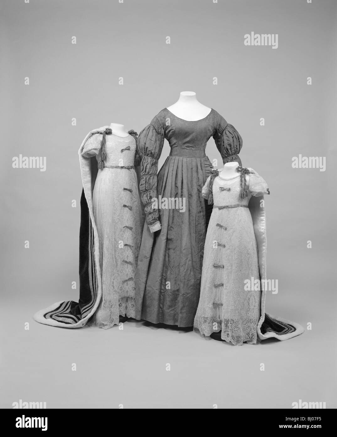 Accession and coronation robes, 1837-1937. - Stock Image