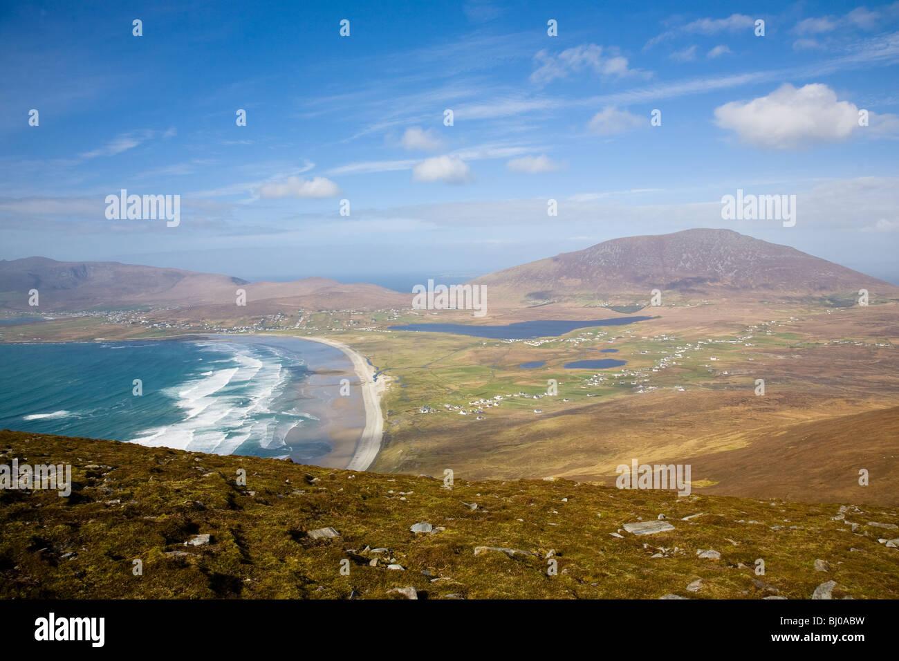 sunny day irish coast - Stock Image