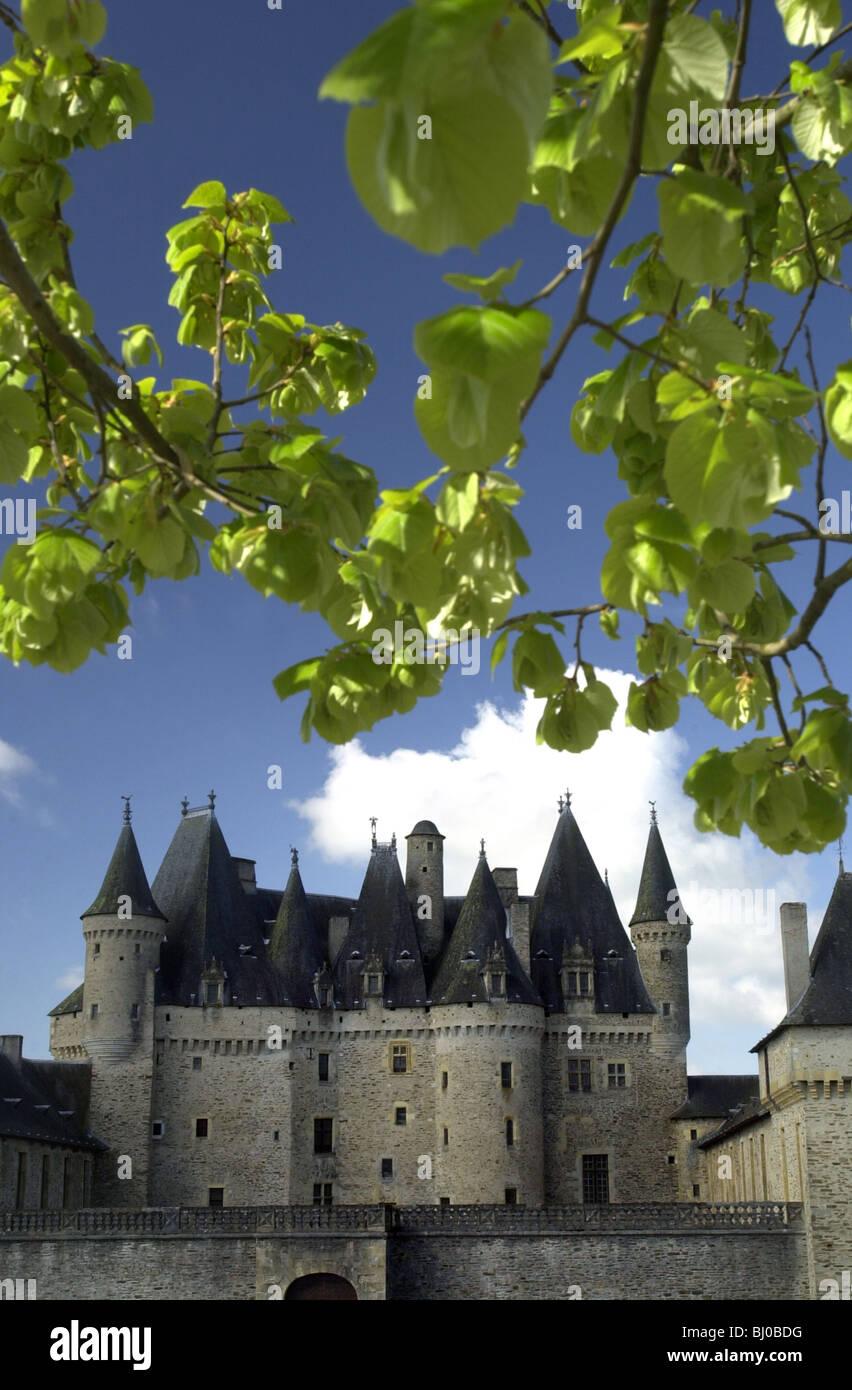 The Chateau de Jumilhac. Jumilhac le Grand Dordogne France. 12 th centuary feudal fortress. - Stock Image