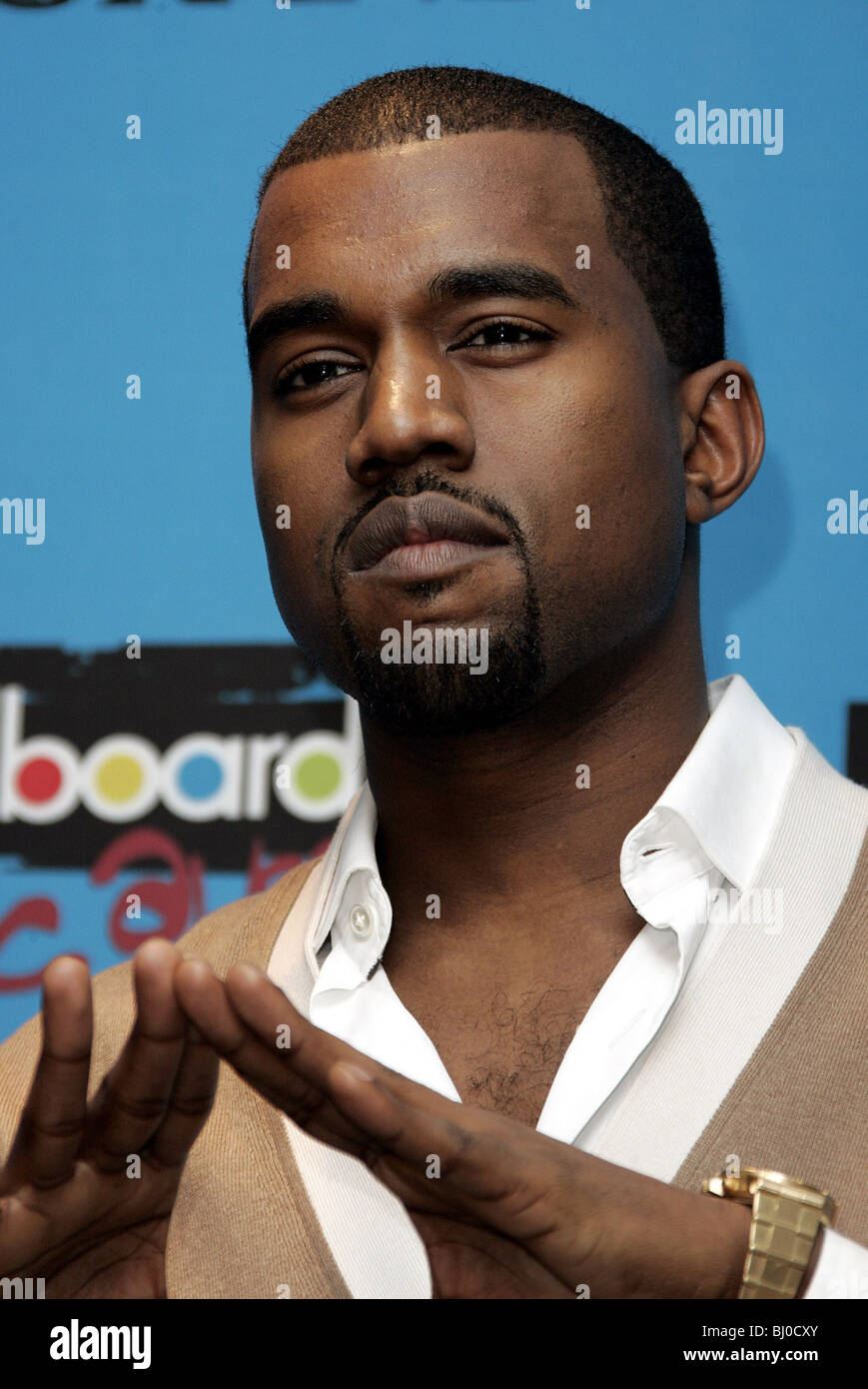 KANYE WEST SINGER MGM GRAND ARENA  LAS VEGAS  USA 06/12/2005 Stock Photo
