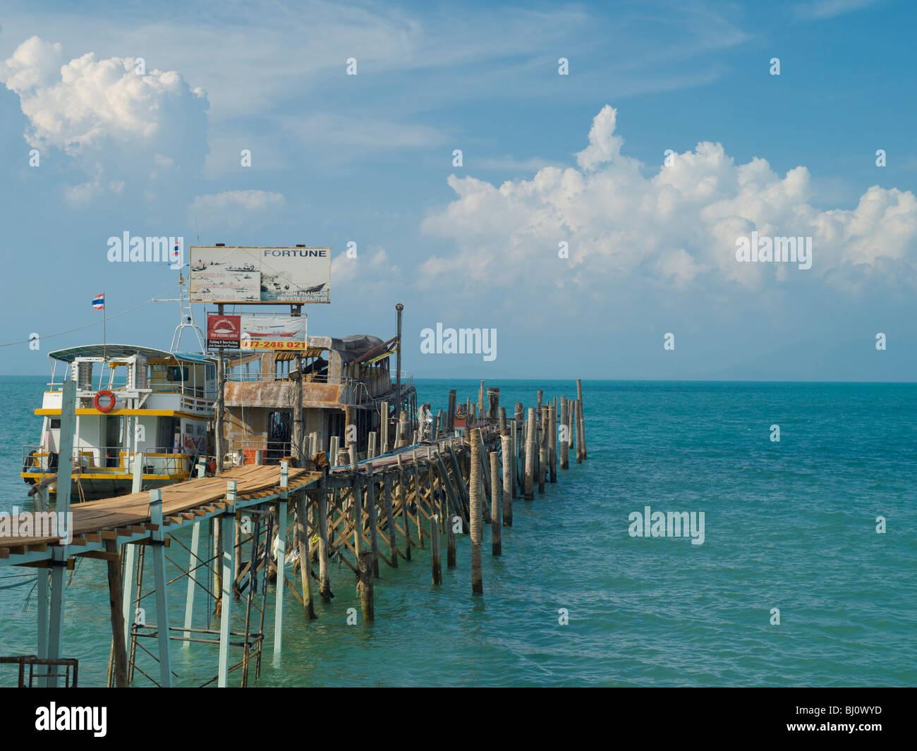Bo Phut pier Koh Samui Thailand - Stock Image