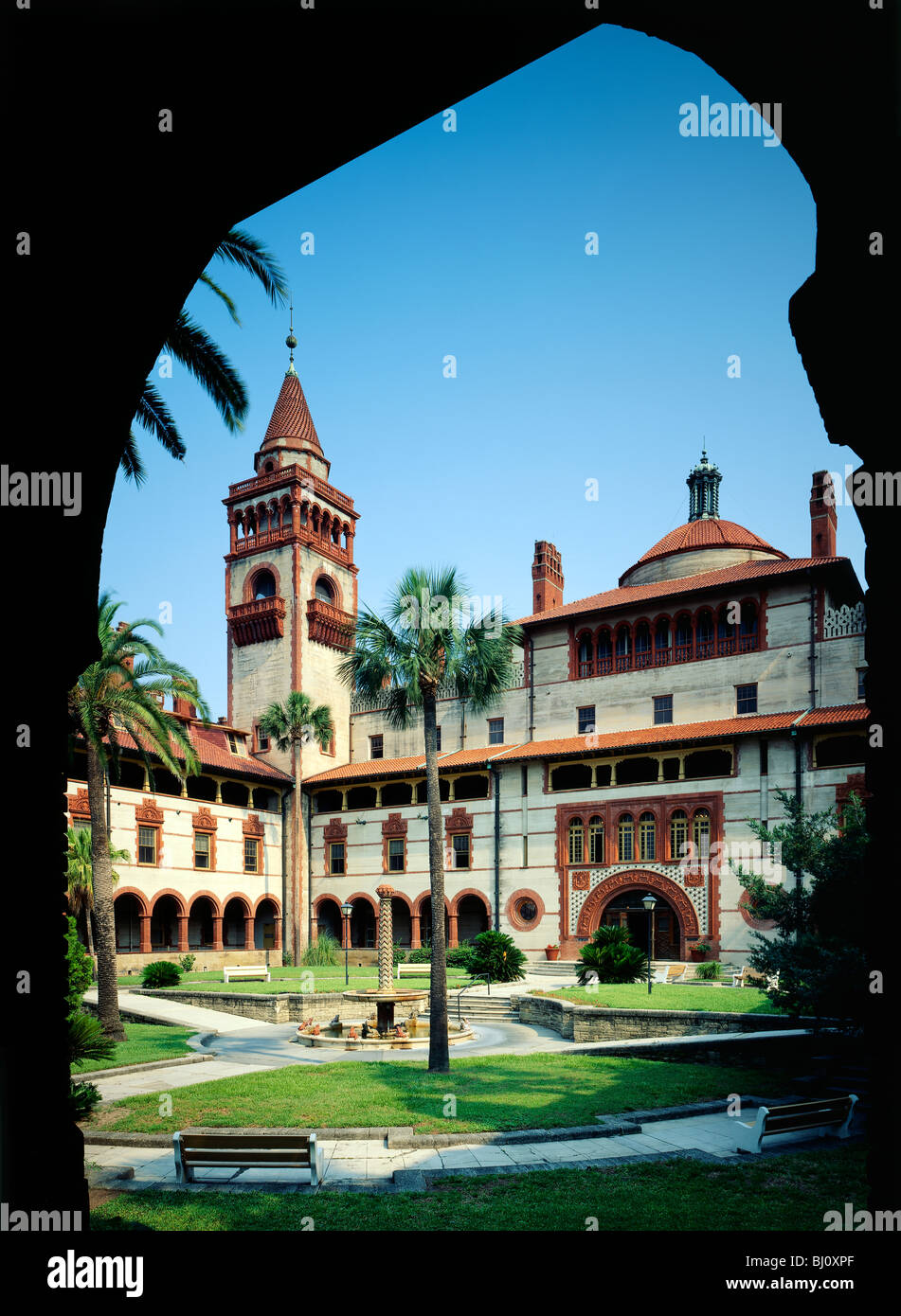 Building At Flagler College, 1888 Spanish Renaissance Style Architecture,  Originally Built As A Hotel, St. Augustine, Florida