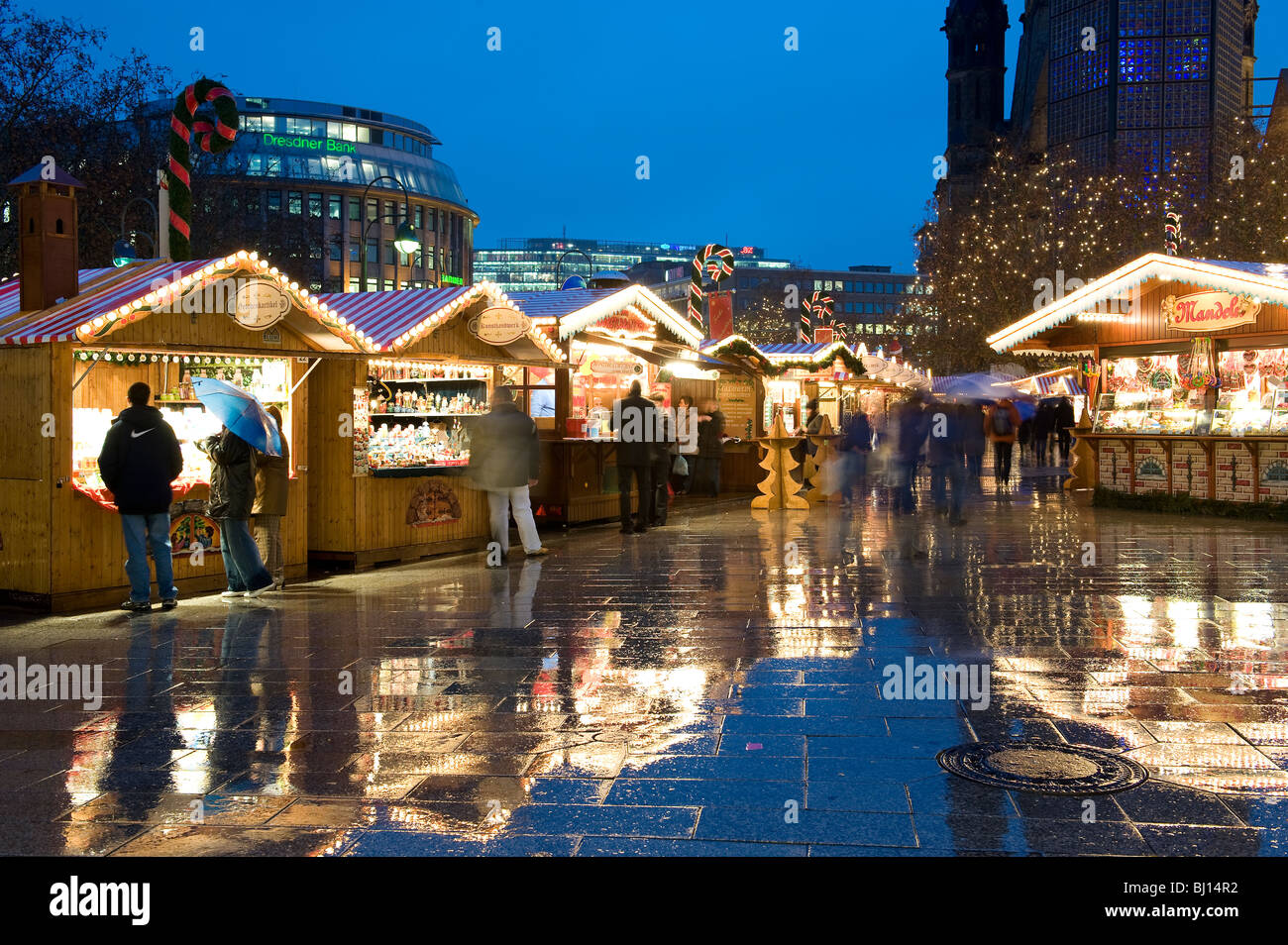Christmas Markets on the  Kurfurstendamm, Berlin. Germany - Stock Image