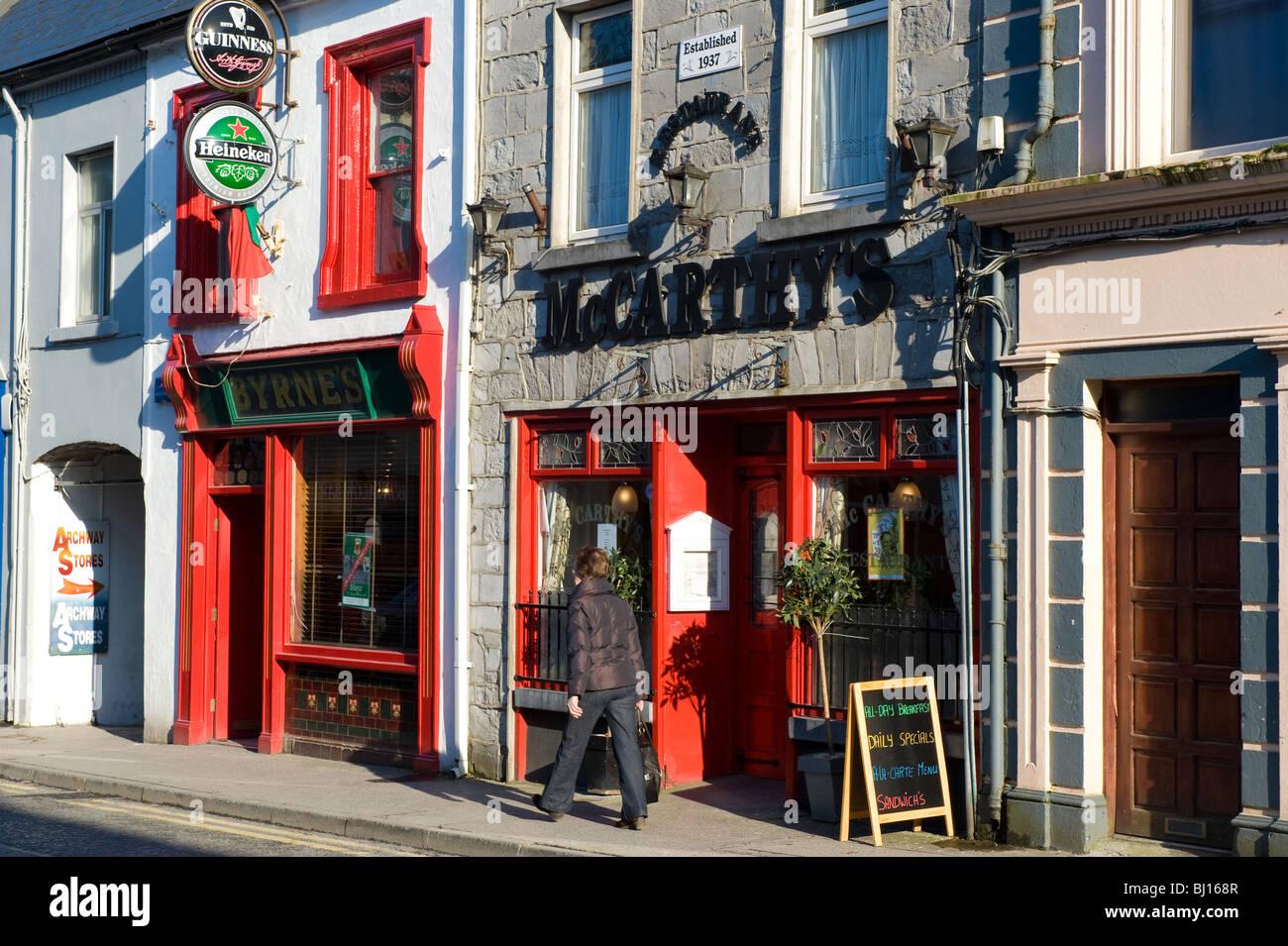 Market Street, Castlebar, Co. Mayo, Ireland. - Stock Image