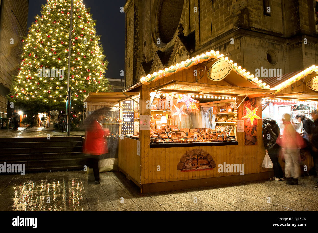 Christmas Markets Kurfurstendamm Berlin Germany - Stock Image