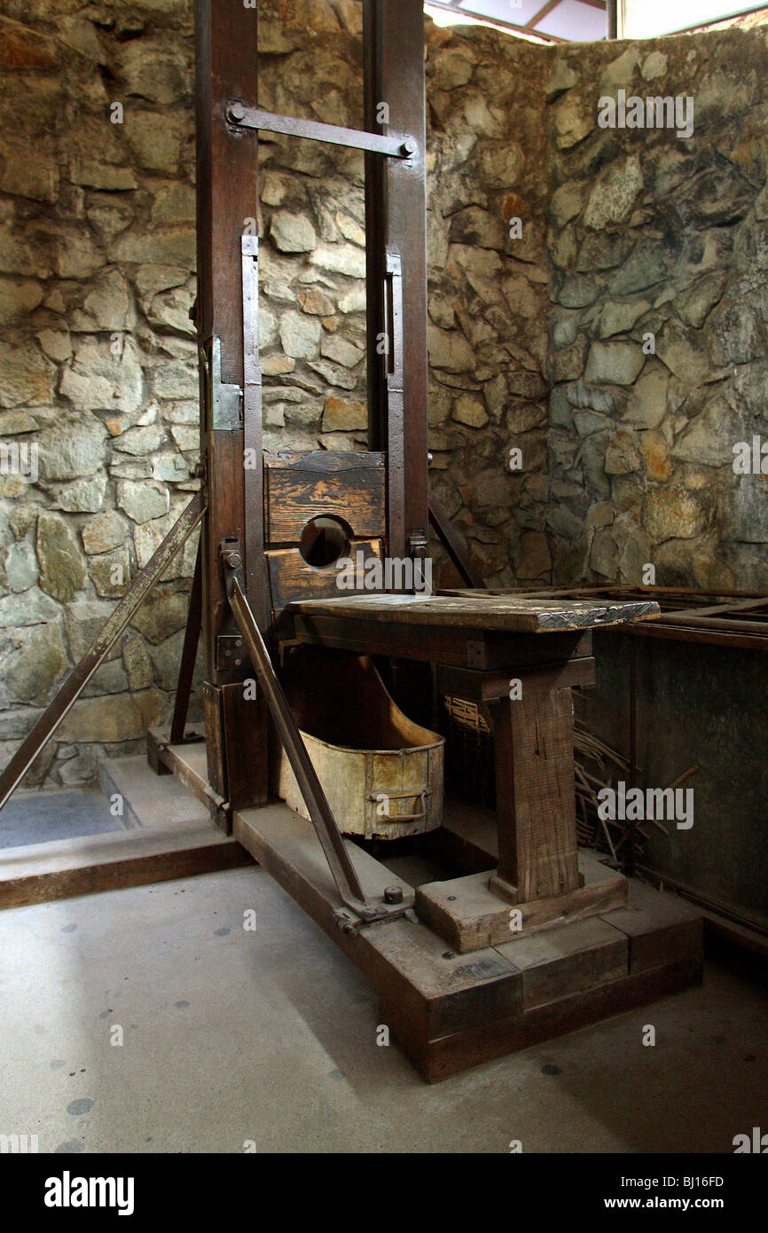Guillotine in War Remnants Museum, Ho Chi Minh City, Vietnam Stock Photo