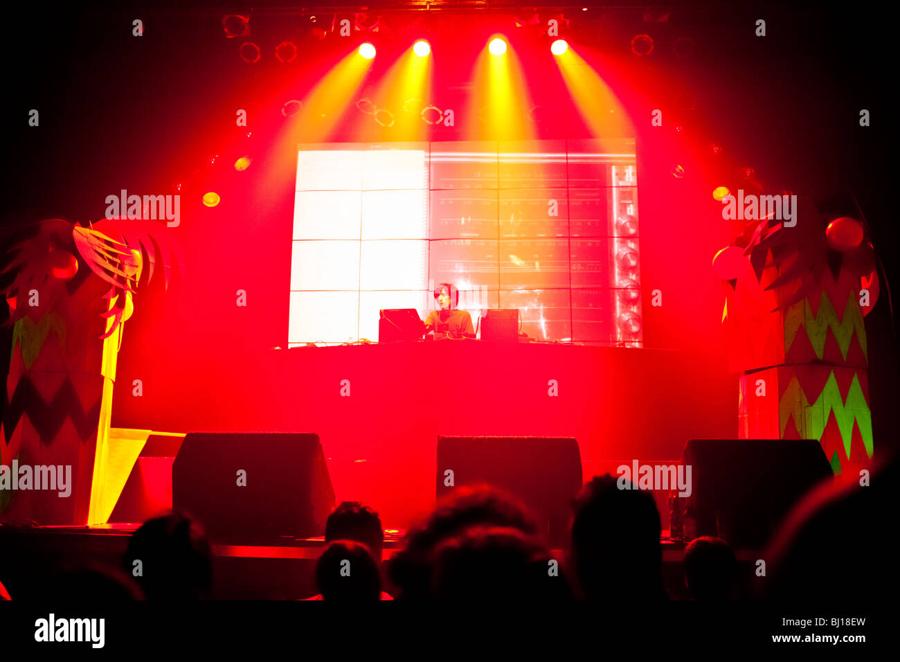 DJ Villa Diamante at Zizek Electro, Cumbia and Reggaeton party at Niceto Club, Buenos Aires - Stock Image