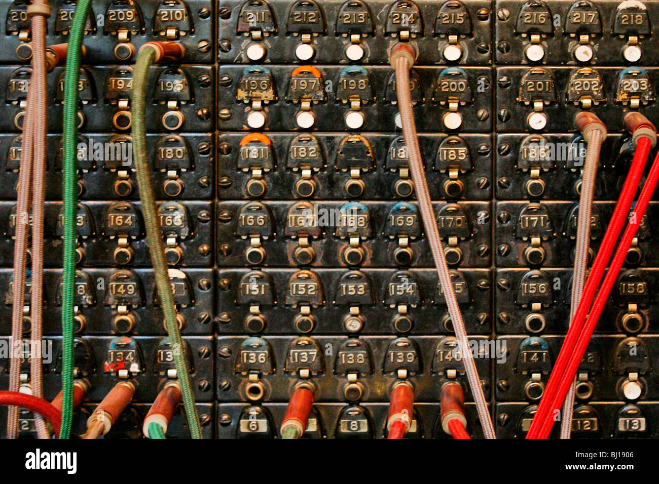 Old Telephone Switchboard - Stock Image