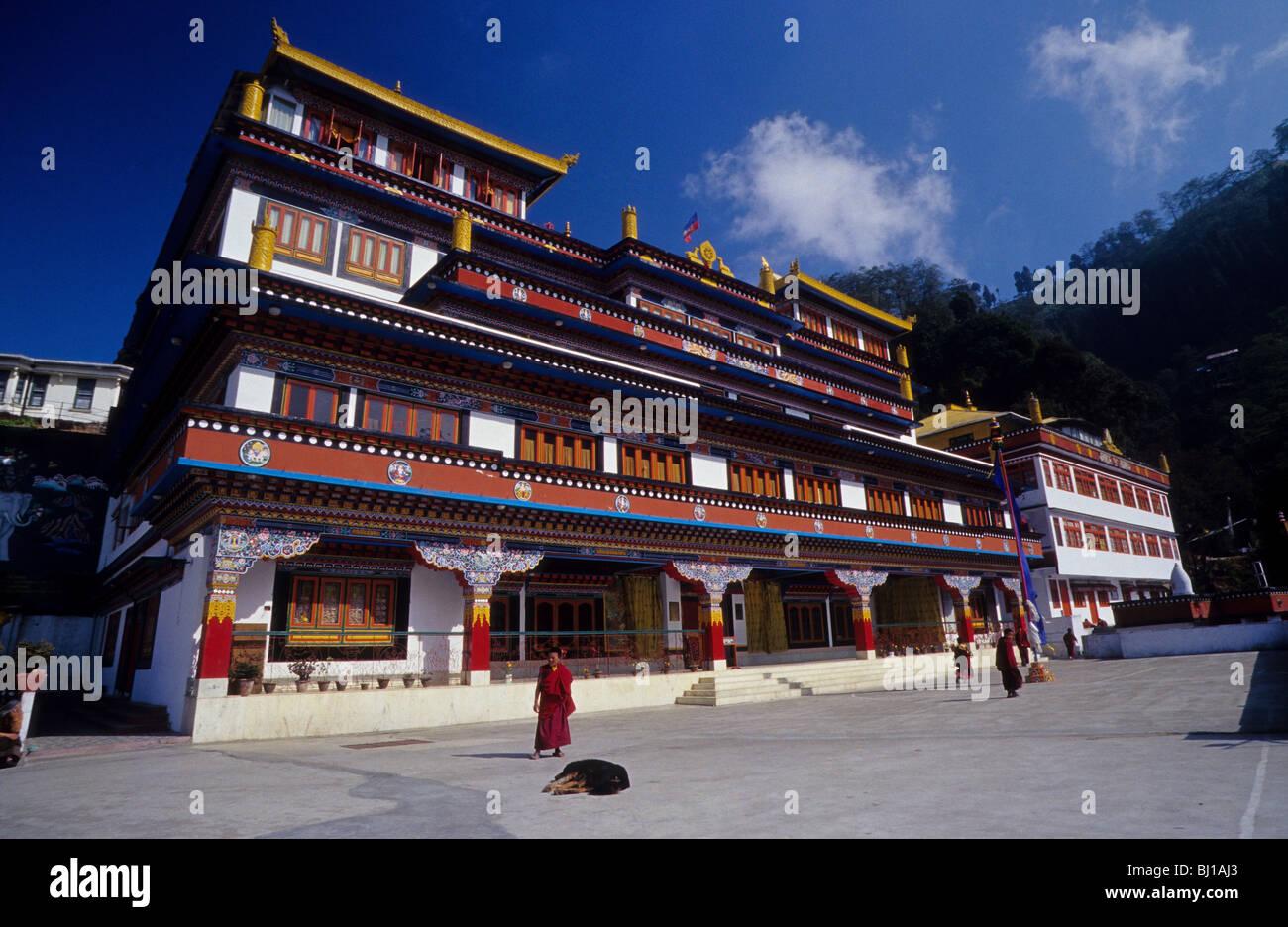 Tibetan Monastery In The Himalaya Just Outside Of Darjeeling West