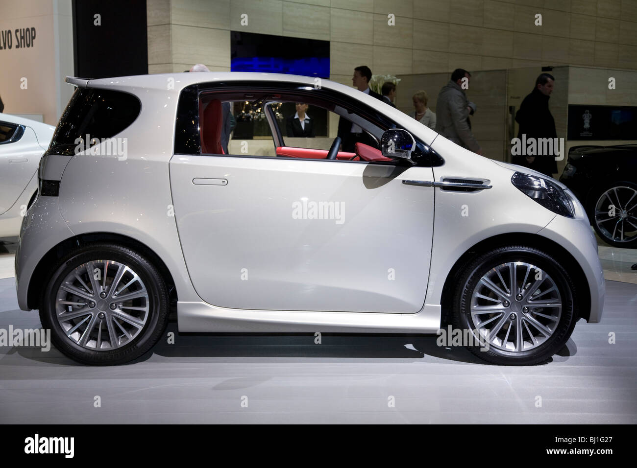 Aston Martin Cygnet Toyota iQ-based city car at a motor show - Stock Image