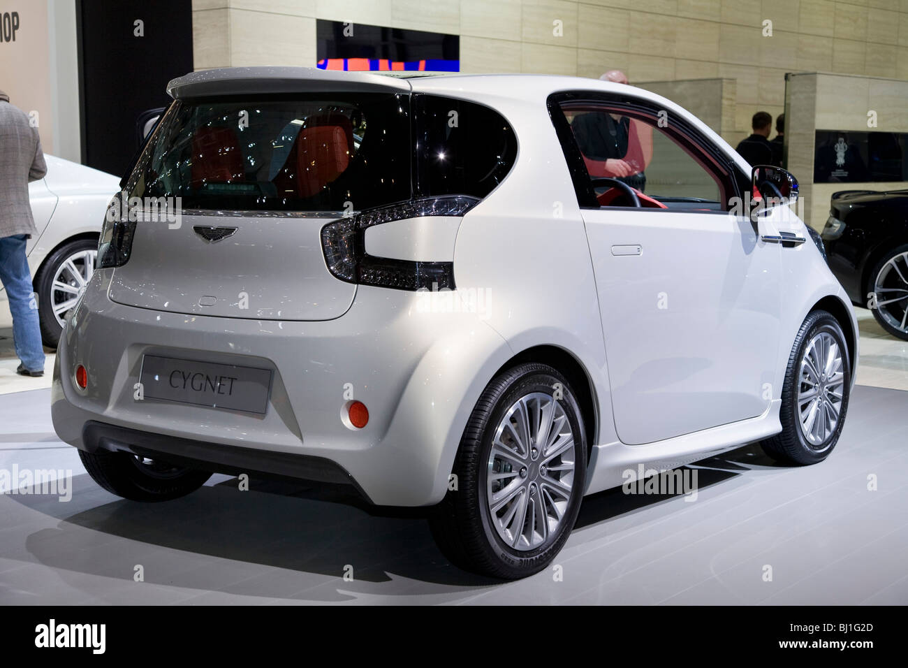 Great Aston Martin Cygnet Toyota IQ Based City Car At A Motor Show