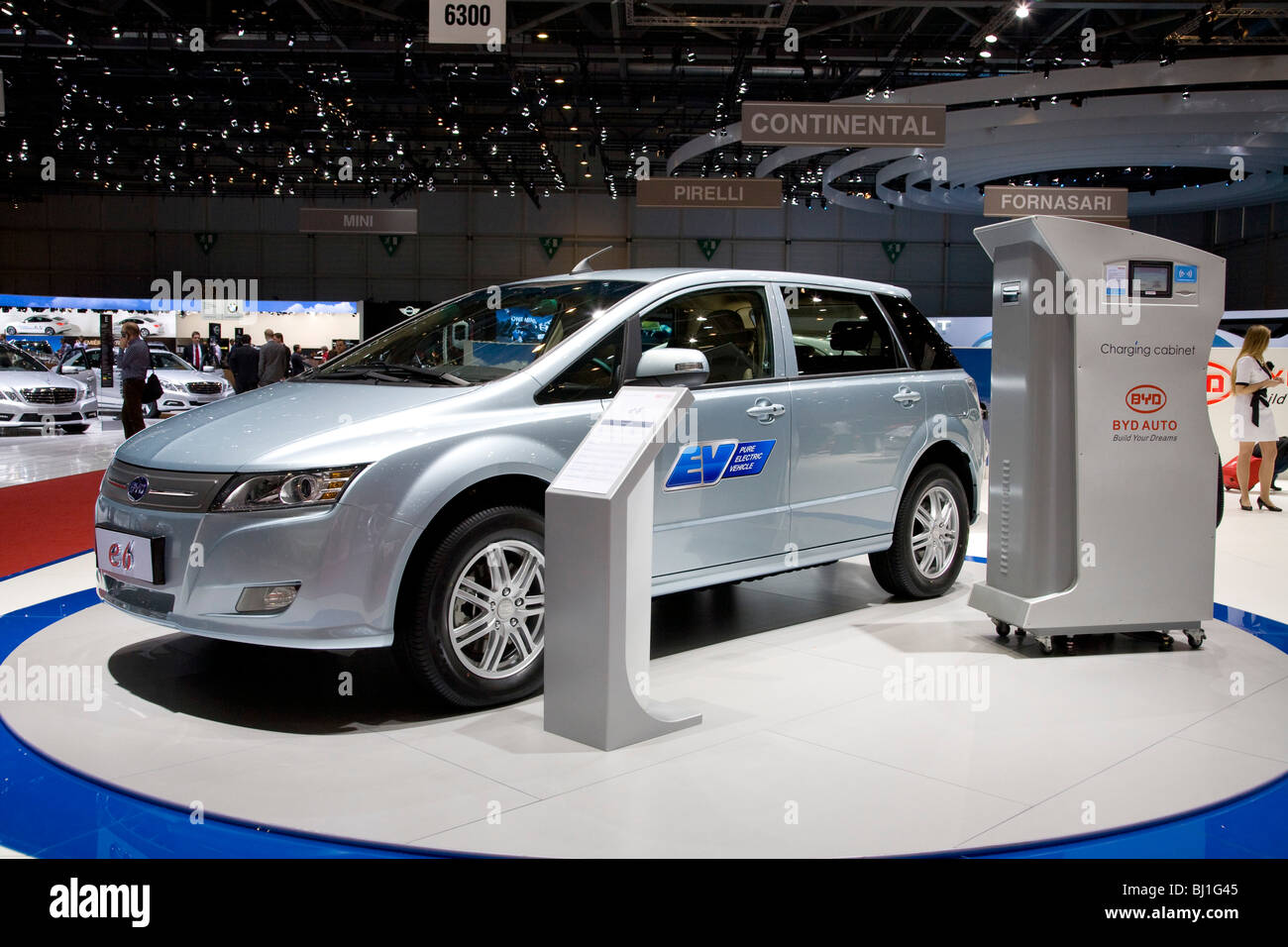BYD Electric Vehicle at a motor show - Stock Image