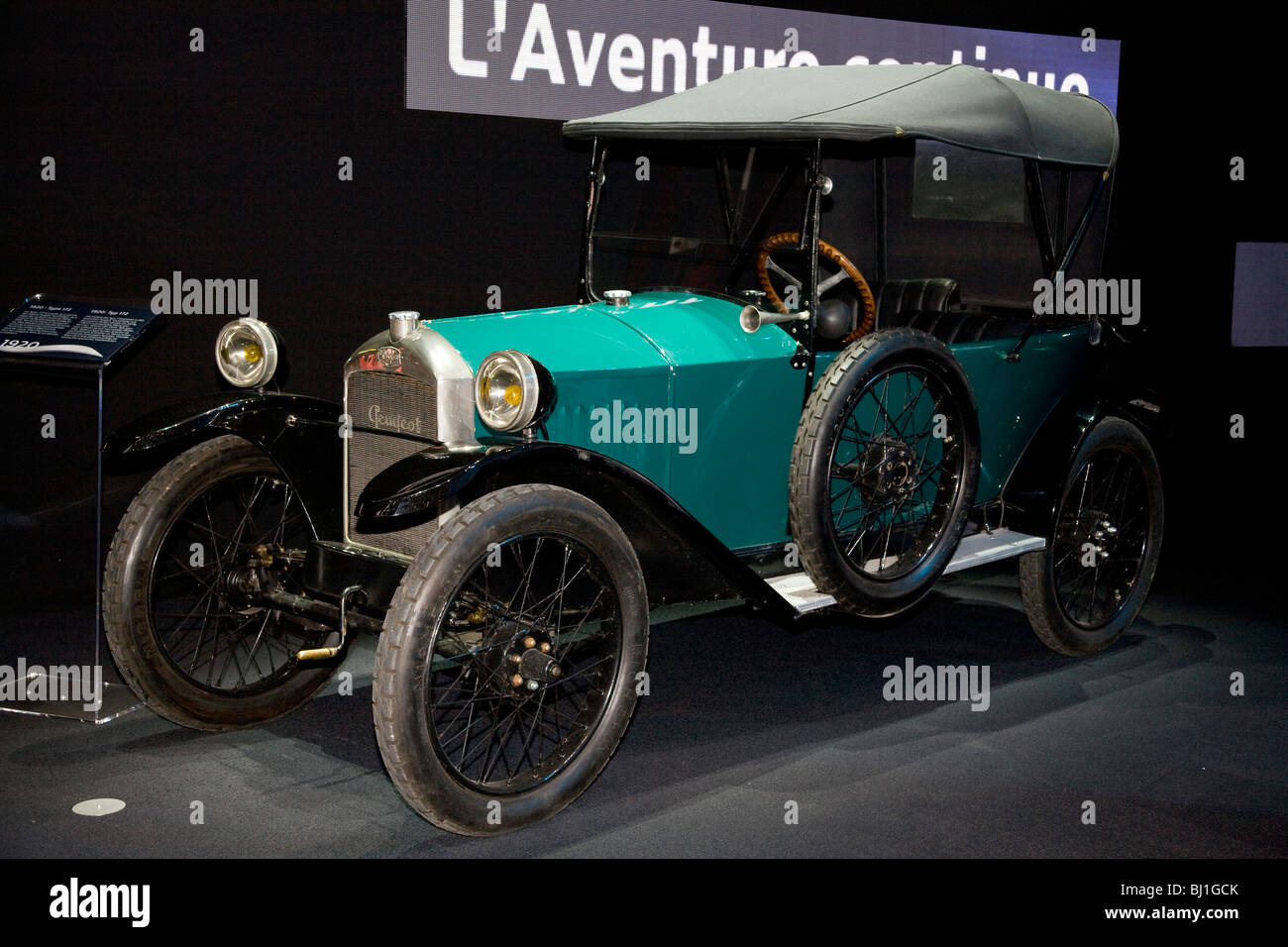 Peugeot Type 172 at a motor show - Stock Image