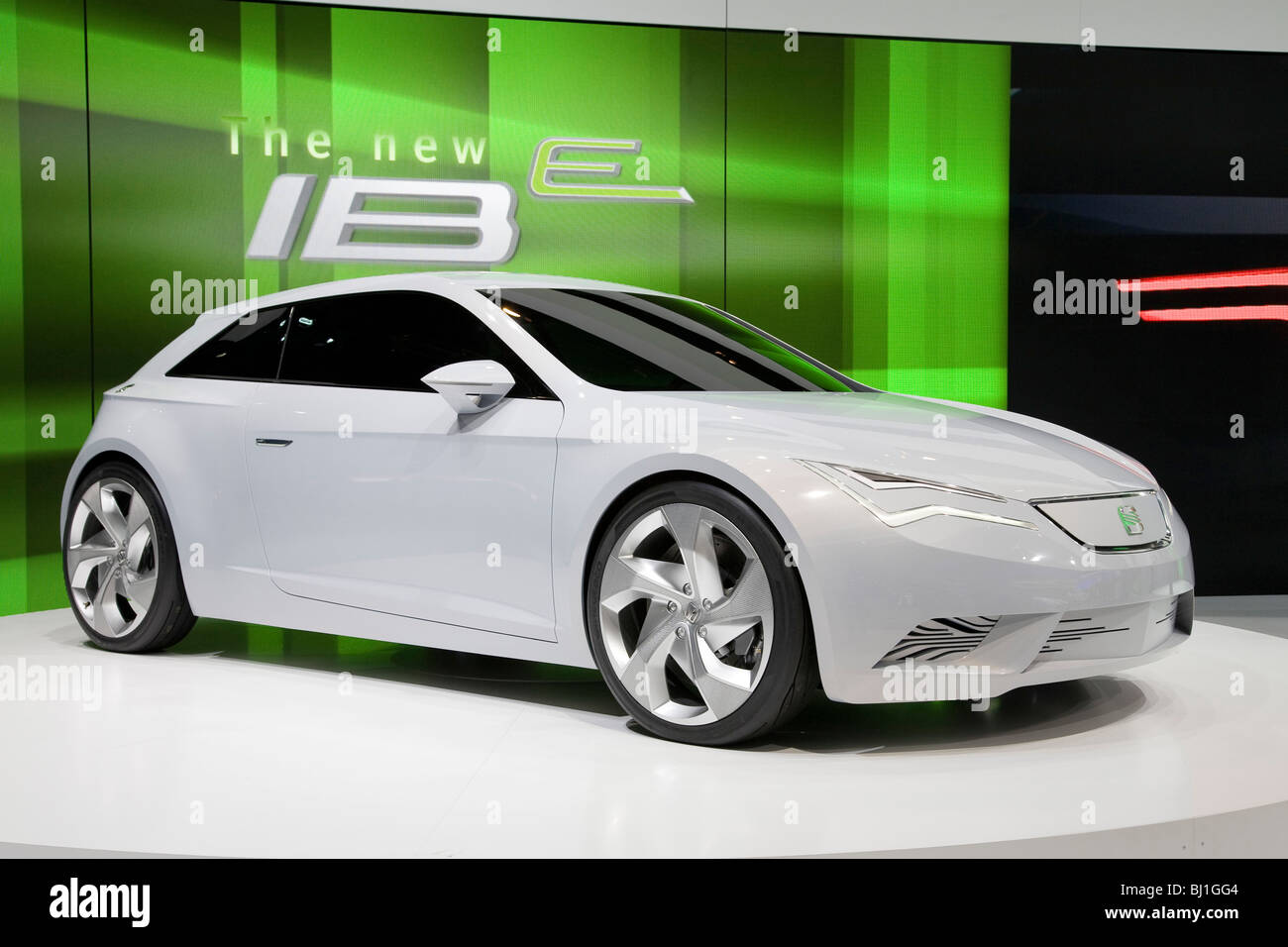 Seat IBe electric concept car at a motor show - Stock Image