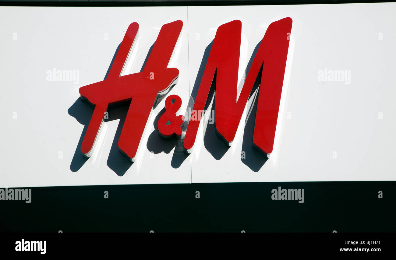 H&M shop sign - Stock Image