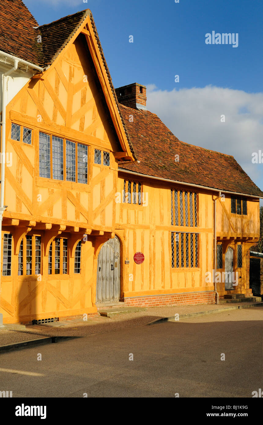 """Little Hall"", a 14th Century timber-framed building in Lavenham, Suffolk, England. Stock Photo"