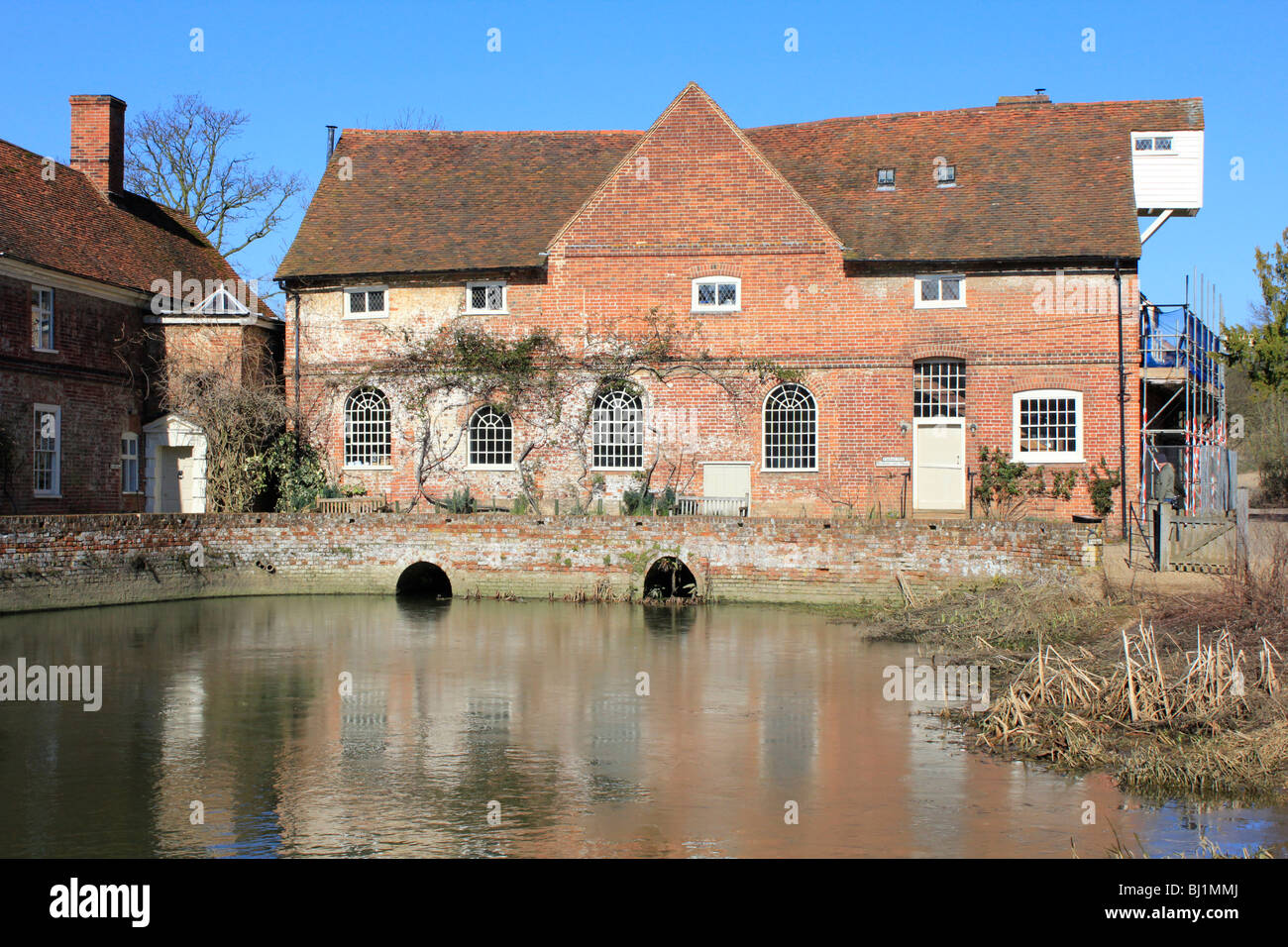 Flatford Mill on the River Stour close to the Suffolk Essex border England Stock Photo