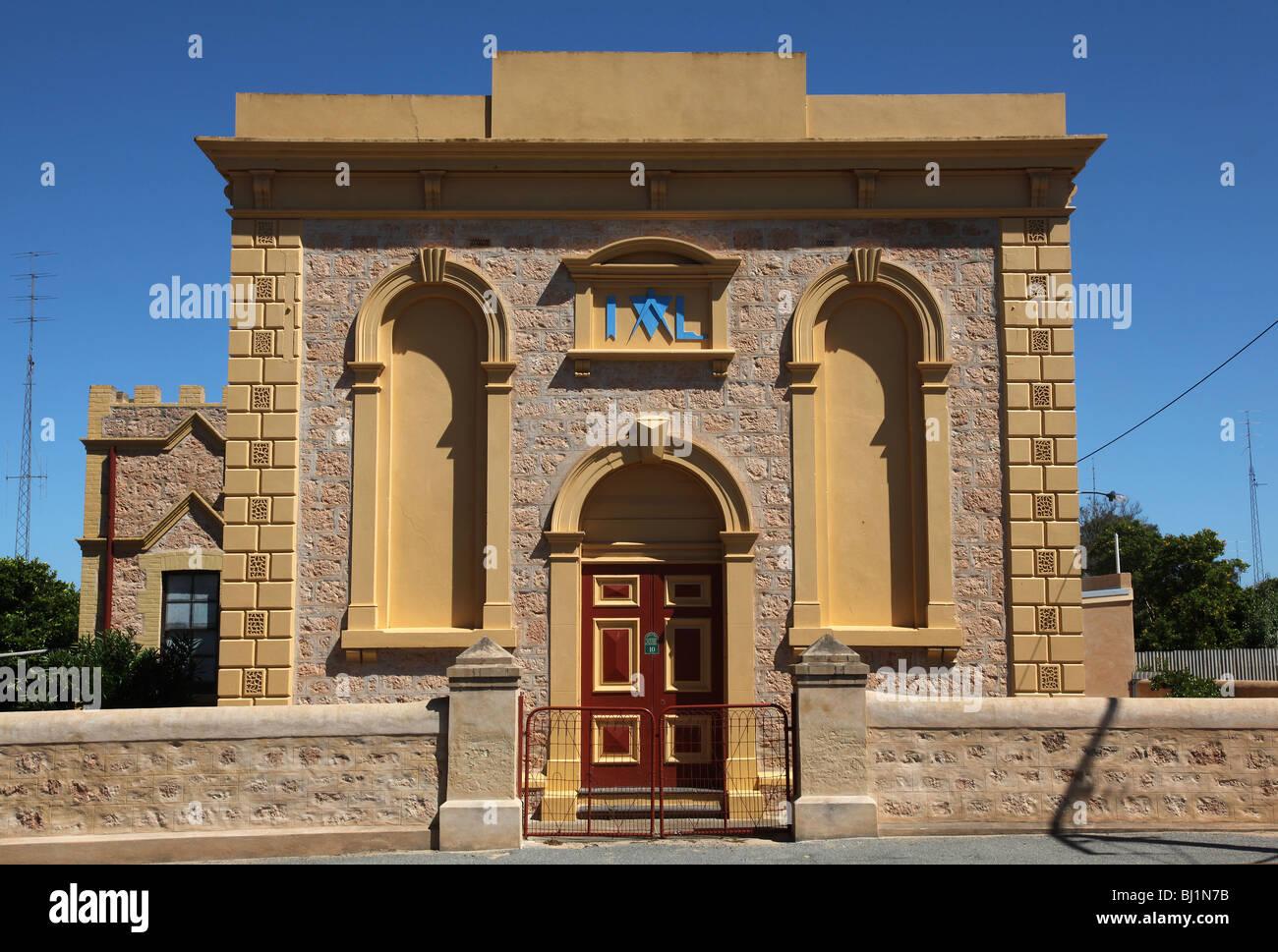 Moonta-Masonic Temple-SA-Australia - Stock Image