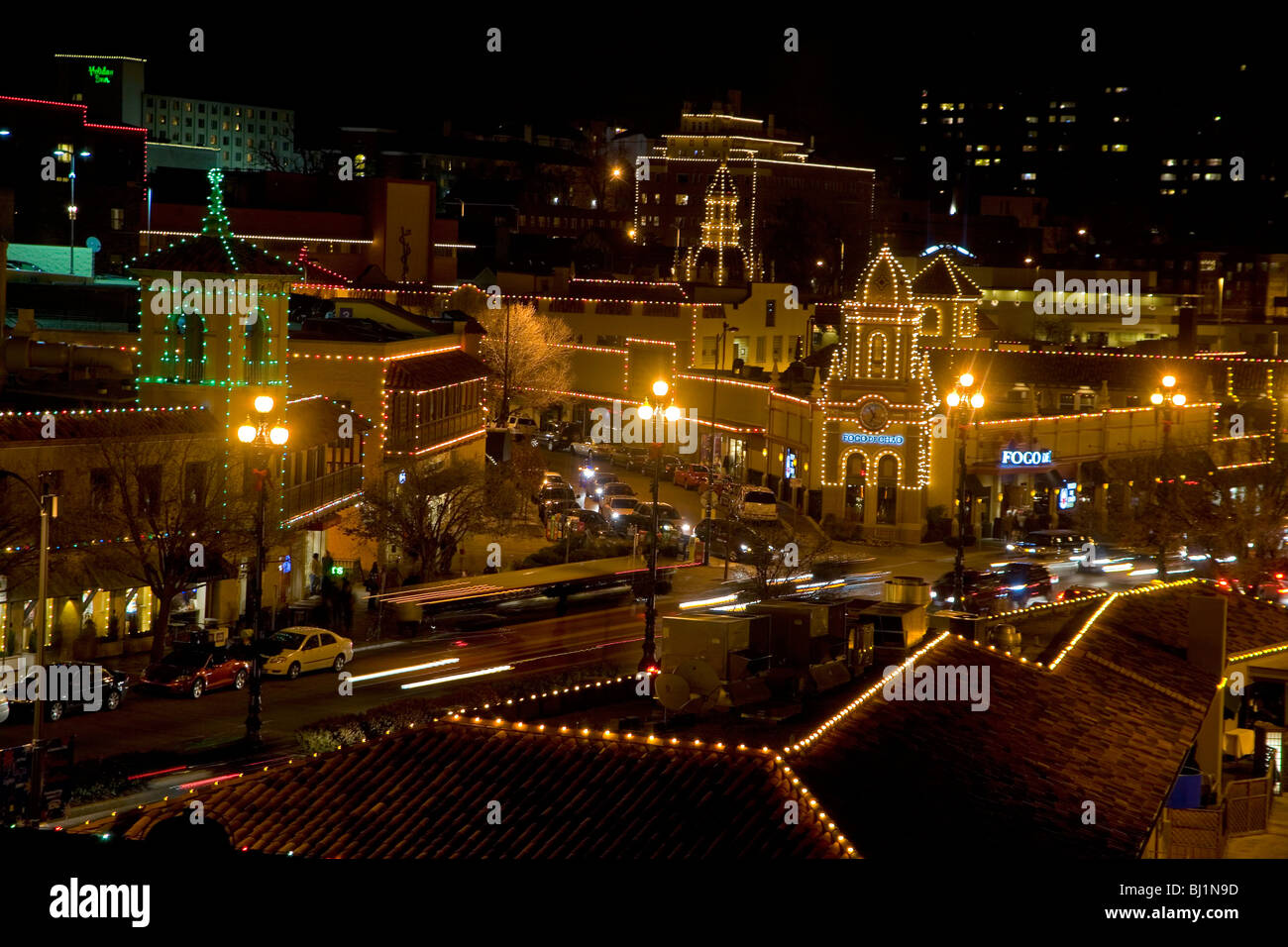 Country Club Plaza Christmas Lights in Kansas City, Missouri - Stock Image