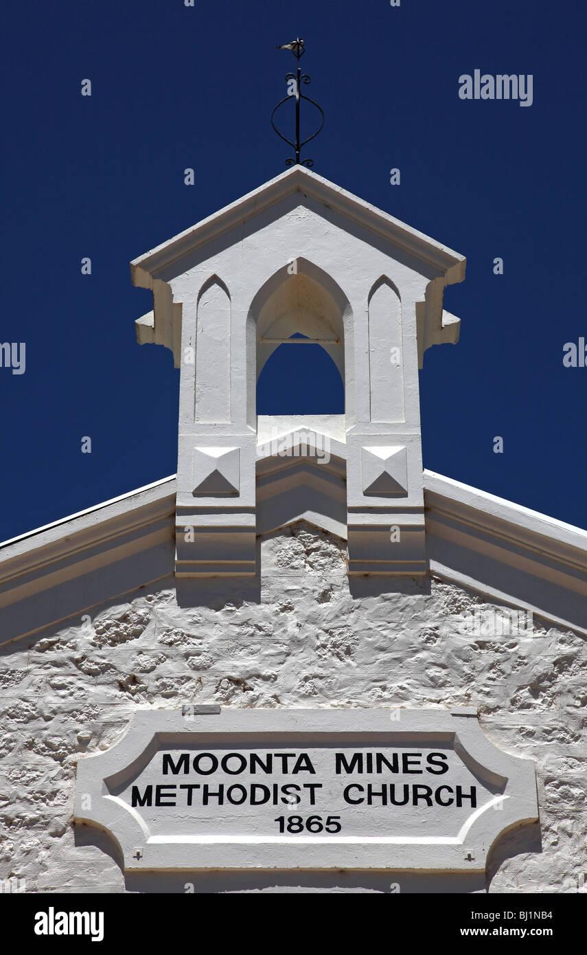 Moonta-Moonta Mines Methodist Church-SA-Australia - Stock Image