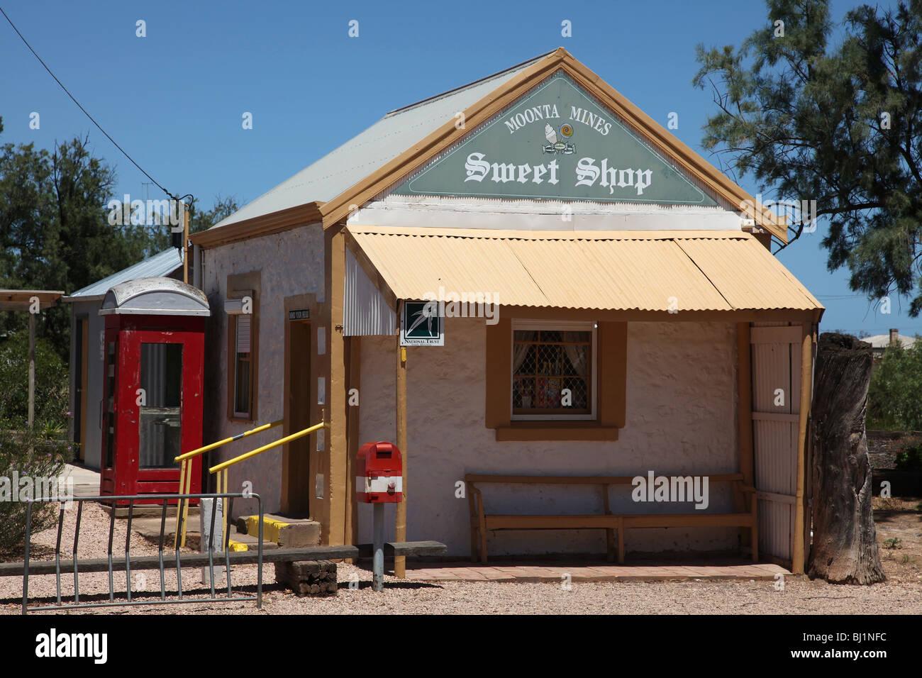 Moonta Mines Sweet Shop-SA-Australia - Stock Image