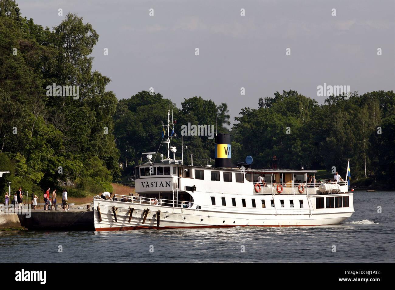 Archipelago Ferry, Stockholm, Sweden - Stock Image