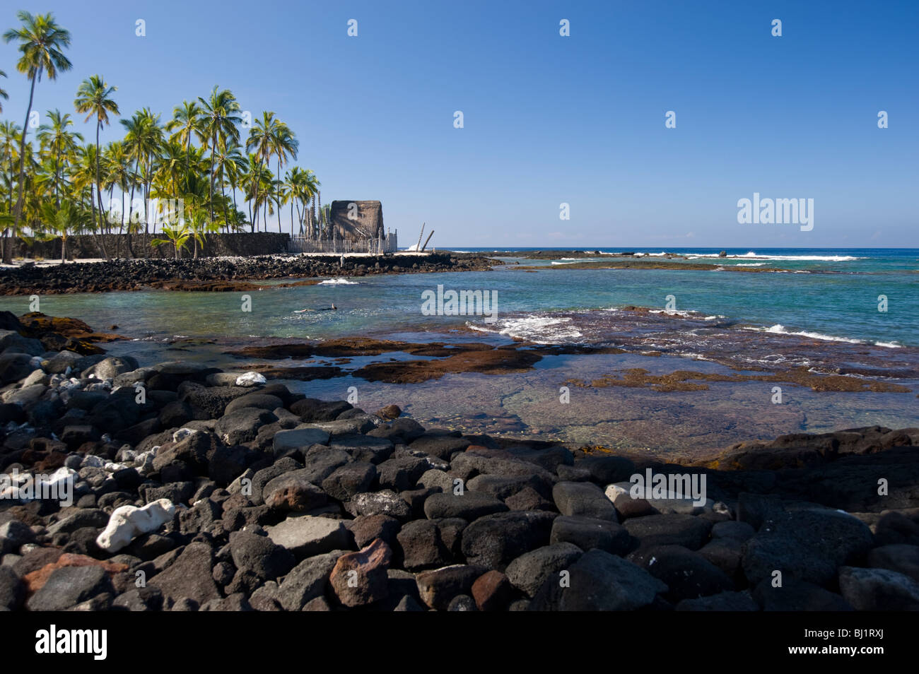 Place Of Refuge Hawaii - Stock Image