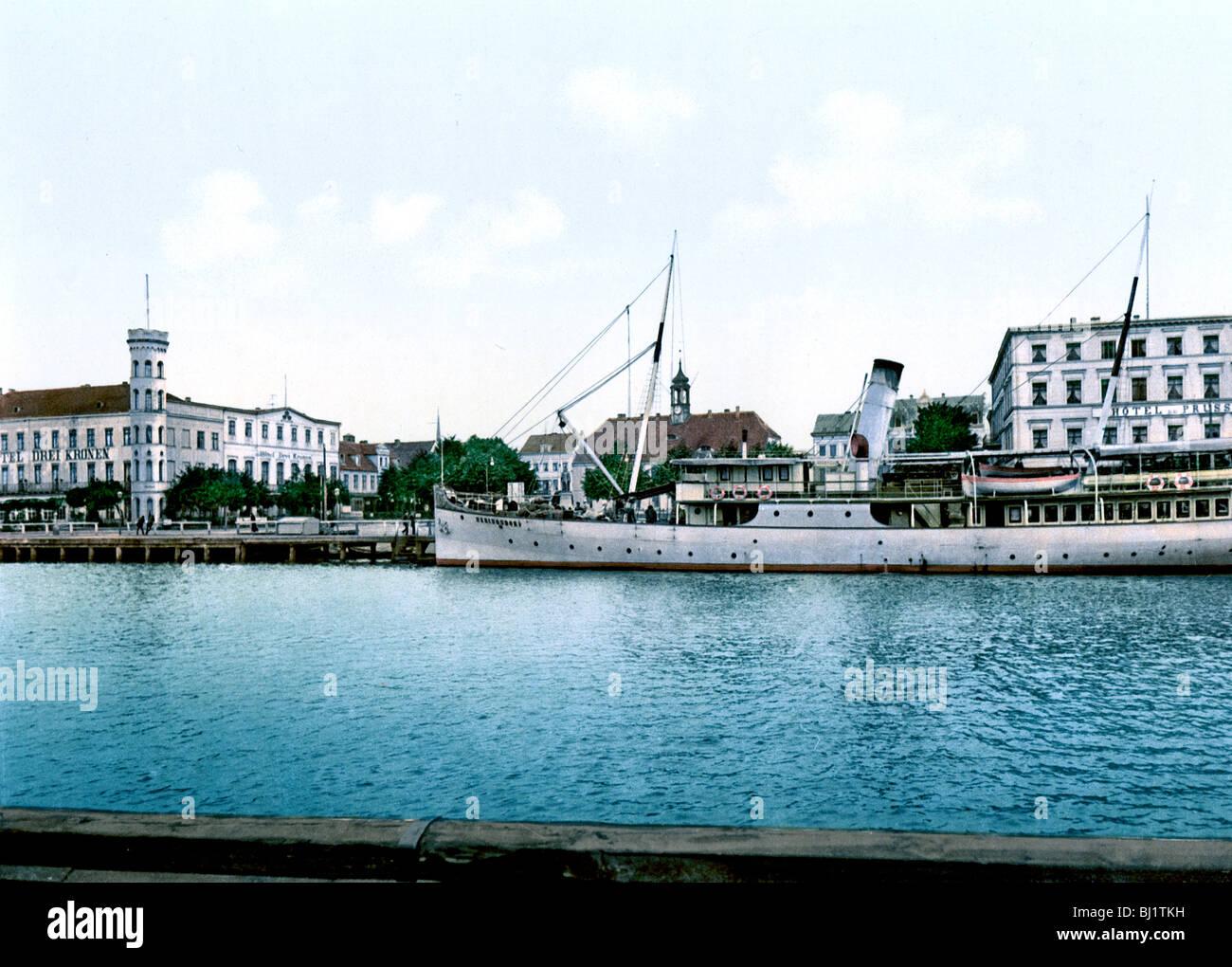 Rathaus und Hotels Swinemunde Stock Photo