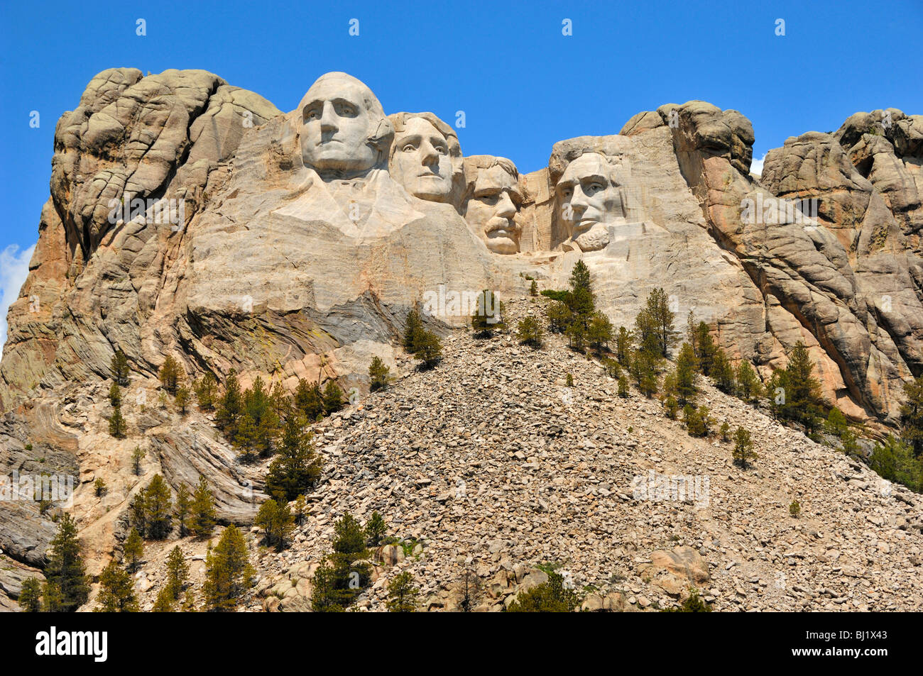 Four Presidents at Mount Rushmore National Monument, near Rapid City, South Dakota, USA Stock Photo