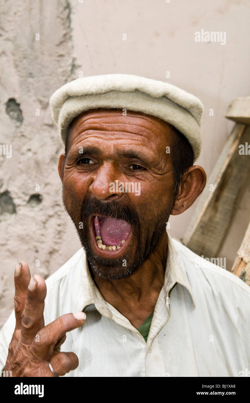 Funny faces in the Hunza valley. - Stock Image