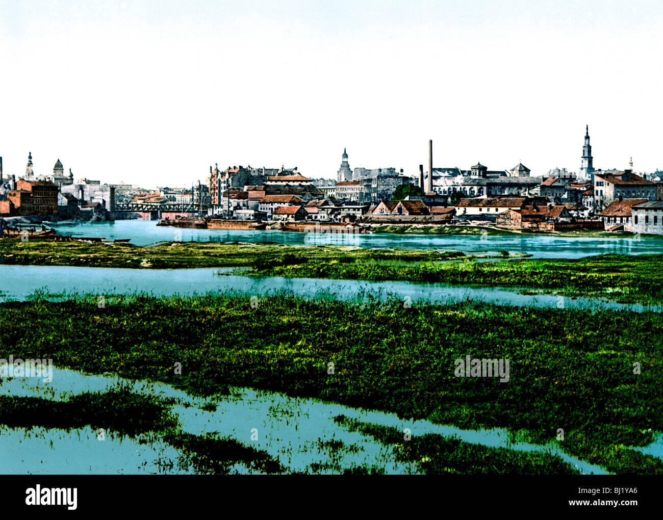 Ansicht von der Alten Stadt Posen - Stock Image