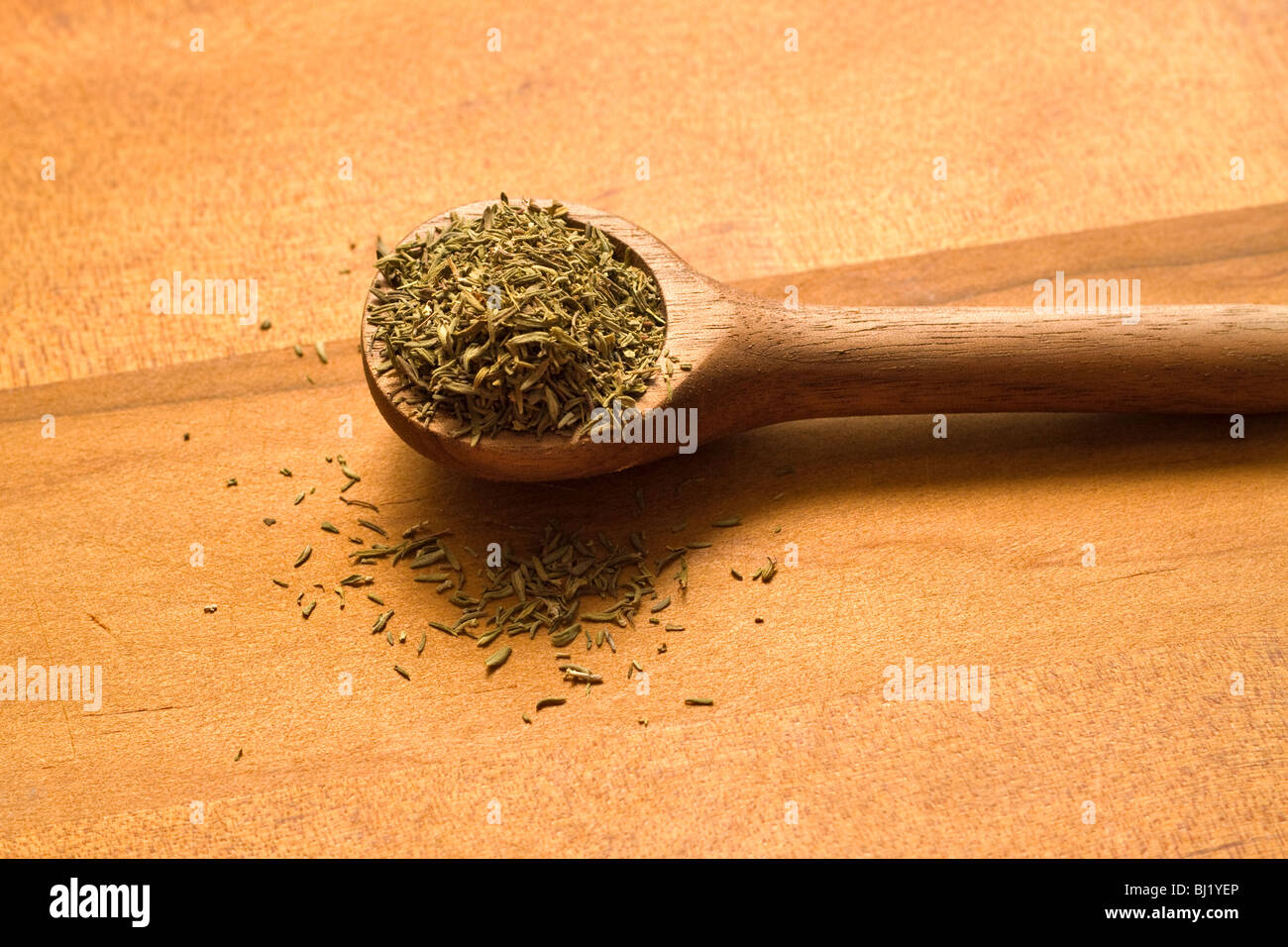 Dried thyme - Stock Image