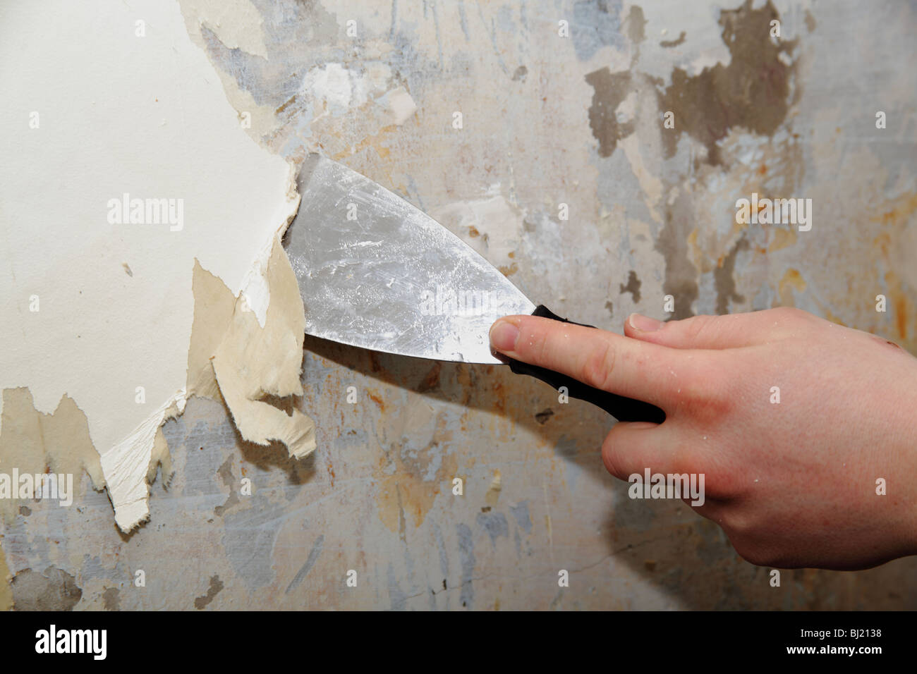 Stripping Wallpaper Stock Photo 28318956