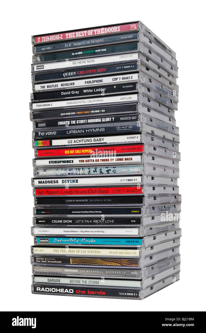 CD Collection - Stock Image